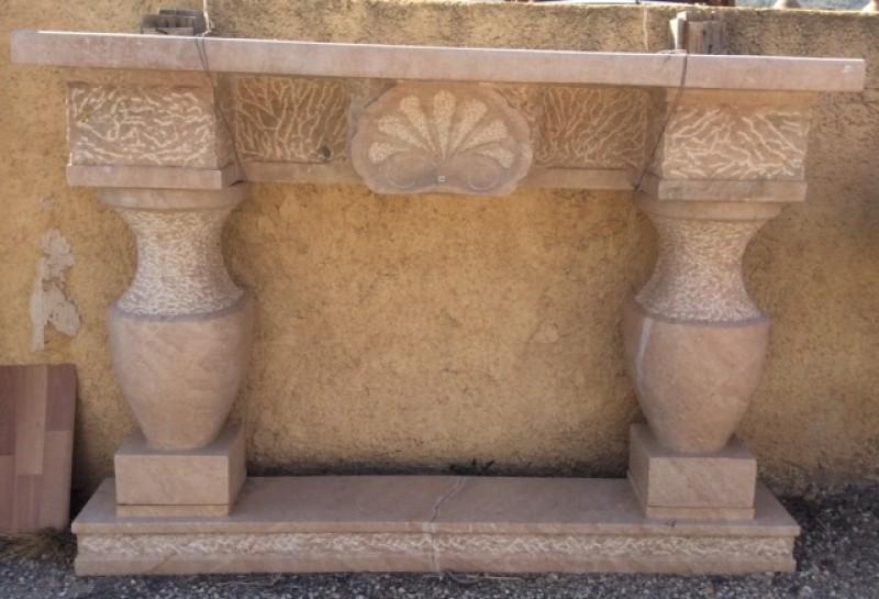 chimenea de piedra natural color rosado mide cm ancho x cm alto