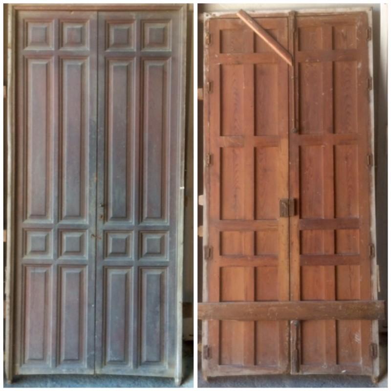 Puerta de interior antigua, mide 2.35 cm x 1.10 cm