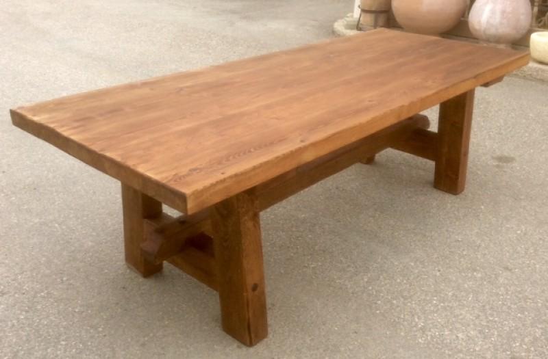 mesa de madera de pino antiguo mide 237 cm de larga x 96 cm de - Mesa De Madera Rustica