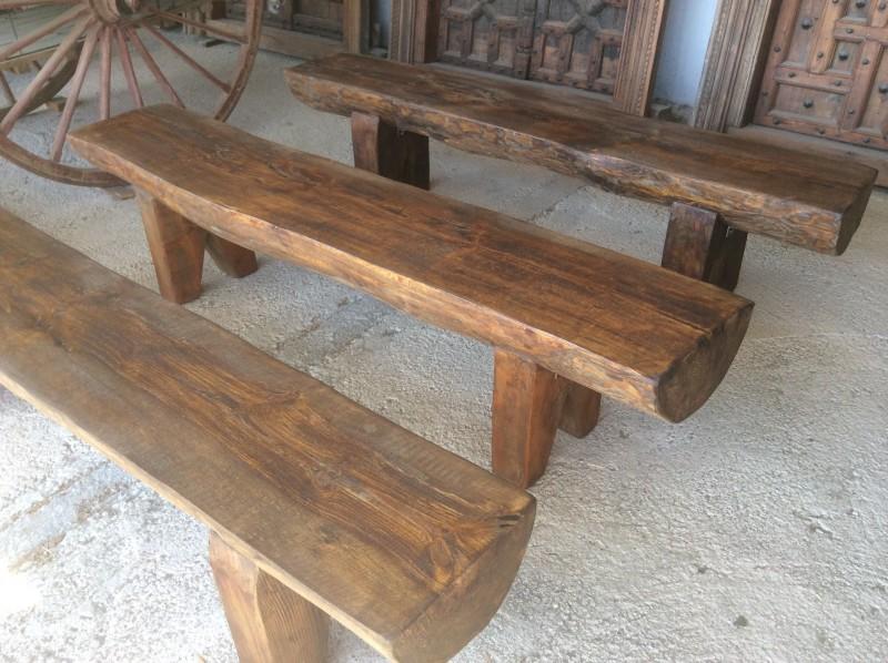 Bancos de madera mesas bancos y sillas cat logo - Bancos madera exterior ...