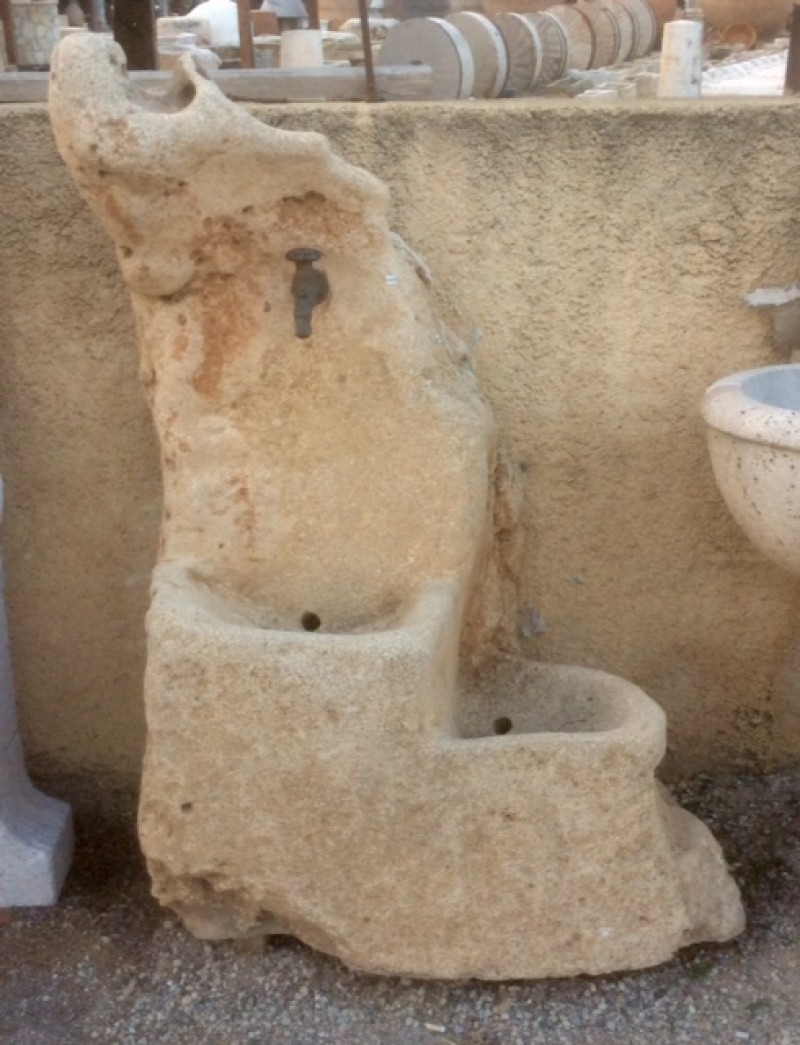 Fuentes de piedra de pared pared muro jardin fuente - Fuentes de piedra natural ...