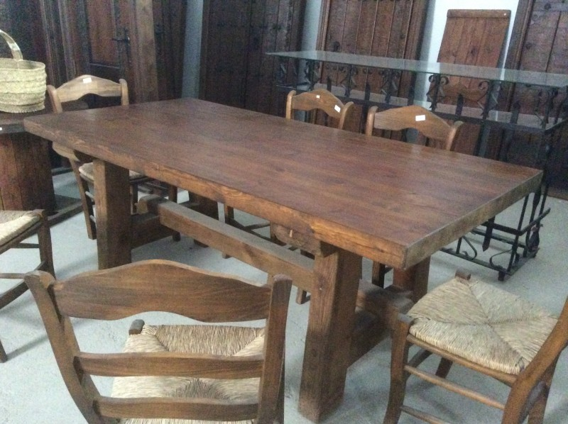 Ref 2015 mesa r stica cat logo antig edades diego for Mesa madera antigua