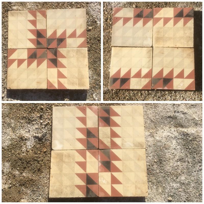 Losa de cemento, mosaico. Mide: 20x20 cm. Disponible: 40 m2