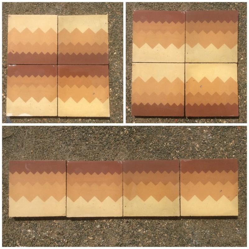 Losa de cemento, mosaico. Mide 20x20 cm. Disponible 19,50 m2