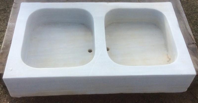 Fregaderos de m rmol de dos senos fregaderos lavabos y ba eras cat logo antig edades - Fregadero marmol ...