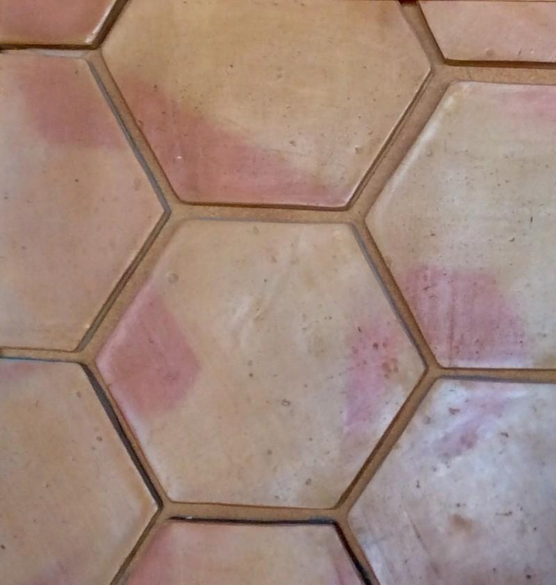 Losa de barro manual hexagonal de 25 cm