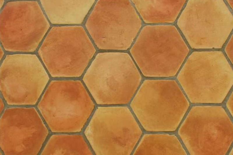 Losa de barro manual hexagonal de 20 cm