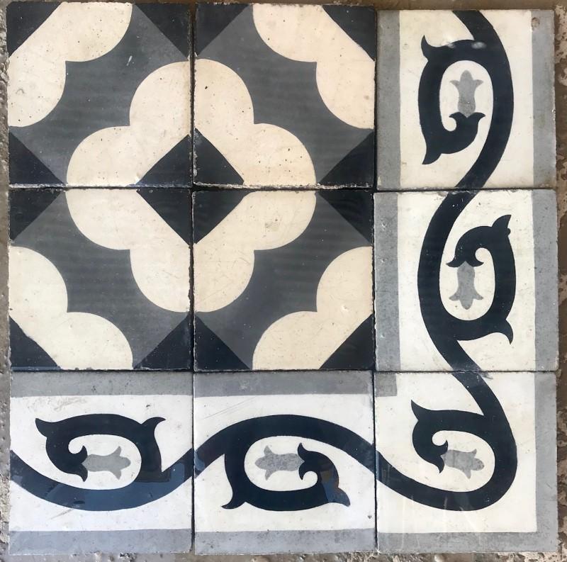 Losa de cemento, mosaico. Mide 20x20 cm. Disponible 2.76 m2 color, hay cenefa a juego 31.60 ml