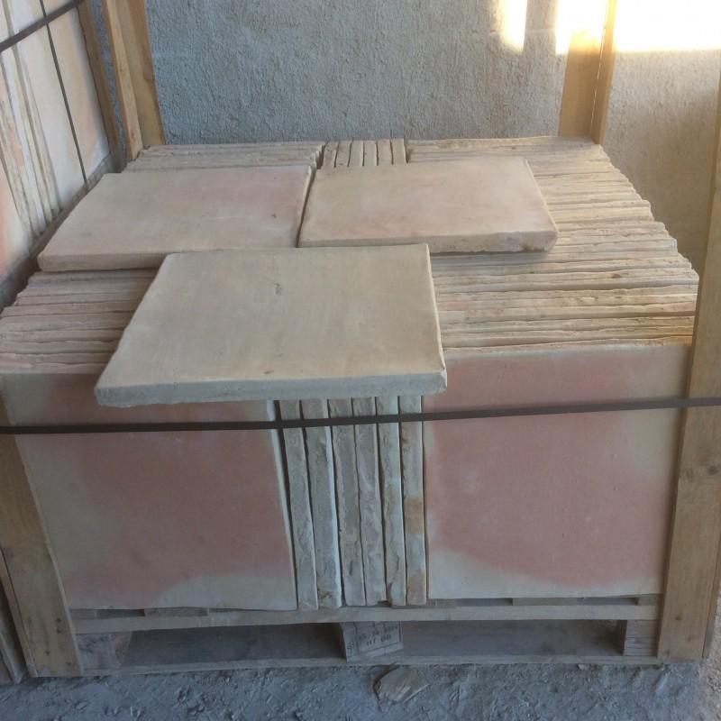 Losa de barro manual 40x40 cm.