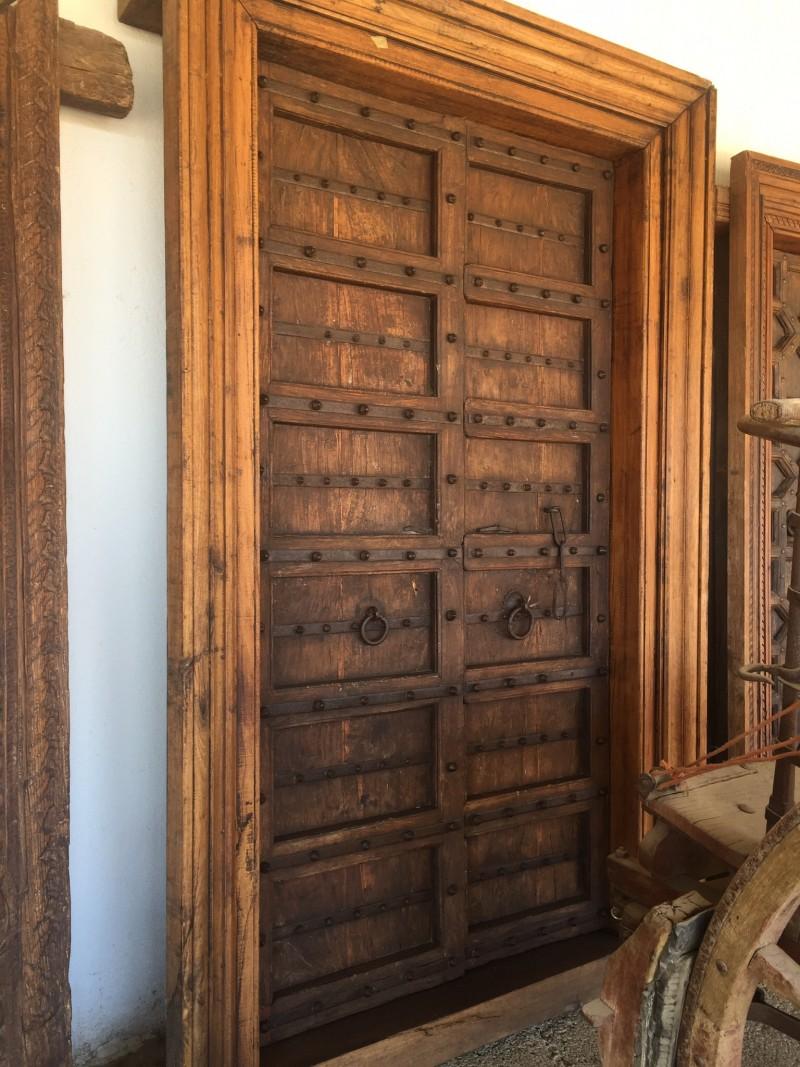 Ref 16005 puerta de exterior cat logo antig edades - Puertas de madera antiguas ...