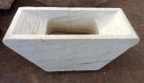 Pila de lavar antigua doble de mármol, mide 1.46 cm x 66cm x 55 cm de alto