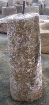 Rulo de piedra viva. Mide 41 cm de diámetro x 1.03 cm de alto.