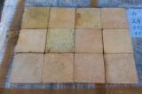 Losa de barro  Mide 15x15 cm x 1.5 cm de grueso. En stock hay 612.67 m2