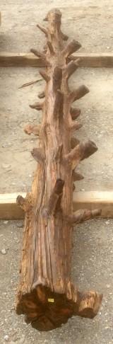 Viga de madera rústica de pino. Mide 20 cm de diámetro x 3.88 cm de altura