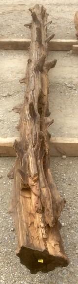 Viga de madera rústica de pino. Mide 18 cm de diámetro x 3.97 cm de altura