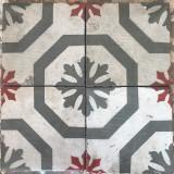 Losa de cemento, mosaico. Mide 20x20 cm. Disponible: 6.52 m2