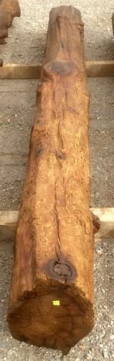 Viga de madera rústica. Mide 25 cm de diámetro x 3.30 cm de altura.