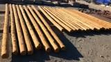 Rollizos cara plana sin color, madera de pino. Hay de 4, 5, 6 y 7 metros