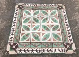 Losa de cemento, mosaico. Mide 20x20 cm. Disponible 8.12 m2 color, hay cenefa a juego 10.40 ml