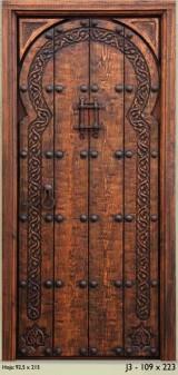 Medidas: 1.09 cm ancho x 2.23 cm alto. Con cerradura de seguridad, madera maciza de pino rojo
