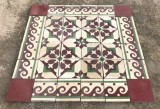 Losa de cemento, mosaico. Mide 20x20 cm. Disponible 7 m2 color, hay cenefa a juego 4 ml