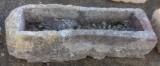 Pilón redondo de piedra arenisca. Mide 1.20 cmx 34 cm x 33 cm de alto